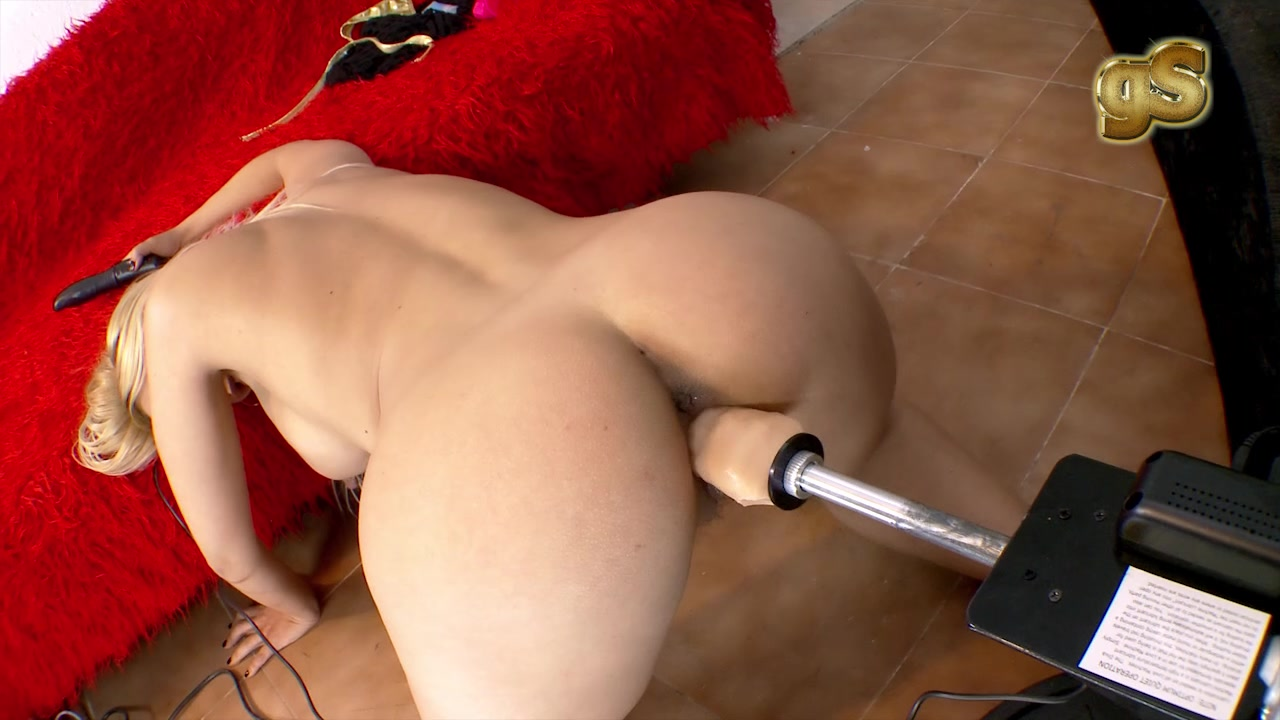 Ebony Fucking Dildo Machine