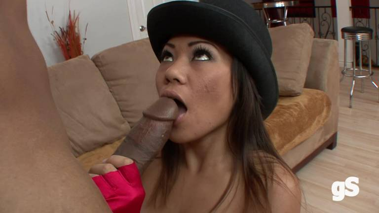 Asian girl wants black guy's cock - GS porn HD video