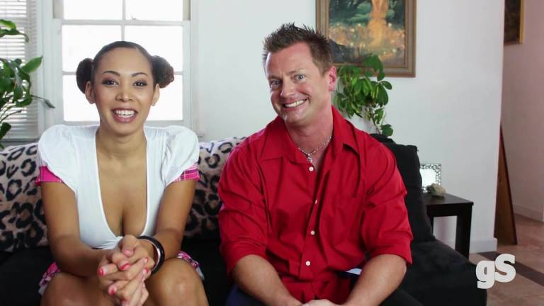 Ebony girl fucked hard on the sofa at home - GSporn