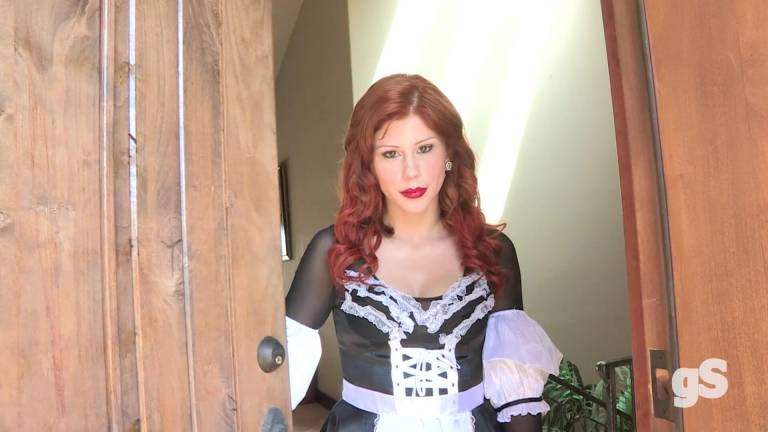 This Sexy Redhead Maid is more than a killer slut